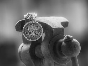 Hänge i silver/Vildsvin