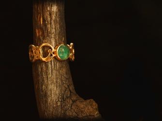 Guldring/Smaragd